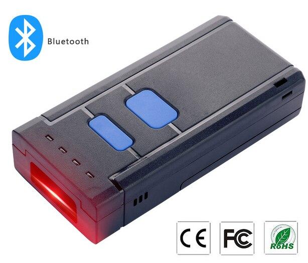 Lecteur de Code à barres Bluetooth 4.0 1D POS sans fil de poche MINI lecteur de Code à barres Bluetooth pour téléphone portable android/IOS