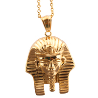Unique Merchandise Gold Plated Jewelry Personalized Egyptian Androsphinx Necklace