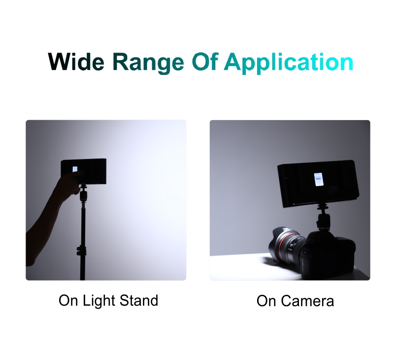 Ulanzi 96 LED Phone Video Light Photo on Camera Shoe Lamp for iPhoneX 8 Camcorder capsaver L4500 2 Sets LED Video Light Kit with Tripod Dimmable Bi-color 3200K-5600K