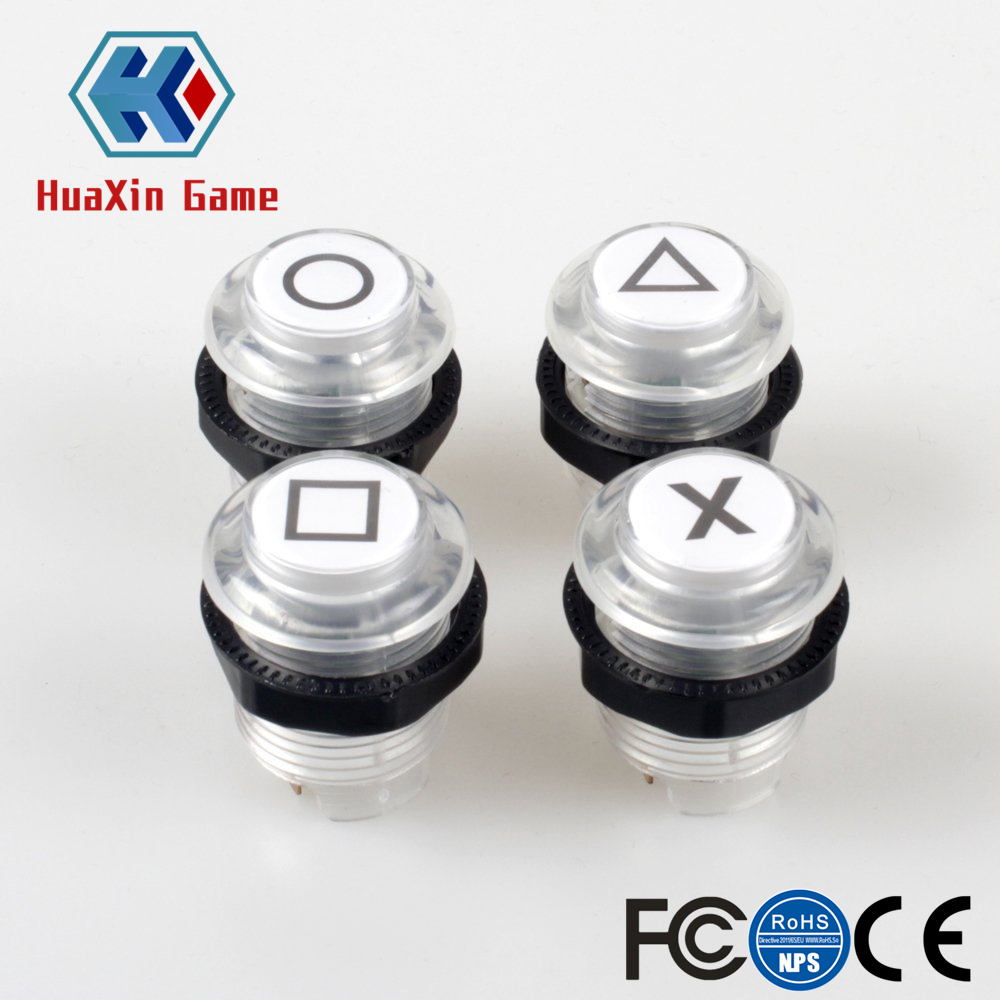 30mm LED Push Button Built-in Switch 5V Illuminated Lights Buttons For Arcade Joystick PS2 PS3 Xbox 360 Mame Jamma Raspberry Pi