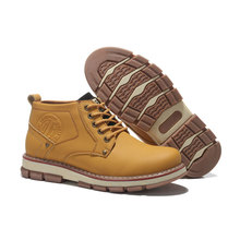 Autumn winter Men Ankle Genuine Leather Boots Men Martin Waterproof Outdoor Snow Shoes Ankle Boots genuine leather Fashion Boot