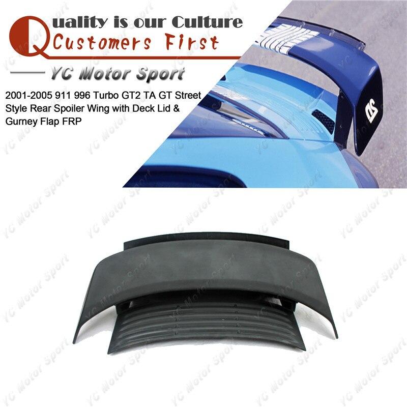 For 2001-2005 Honda Civic Coupe Carbon Fiber Rear Trunk Spoiler W//LED Brake Lamp