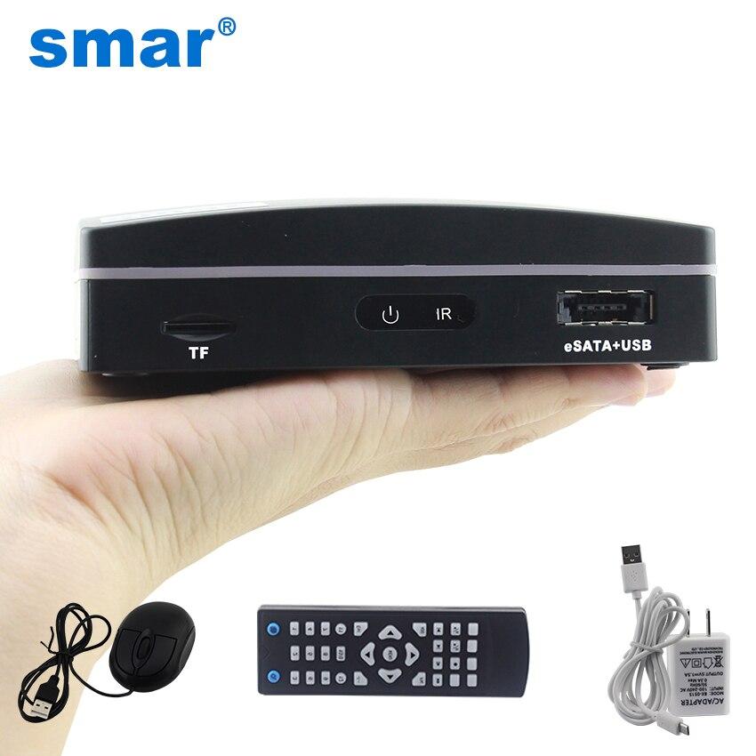 Smar Più Nuovo 4CH 8CH Super Mini NVR CCTV NVR Recorder per 720 p/960 p/1080 p Onvif macchina Fotografica del IP, nube P2P, eSATA/TF/USB, Telecomando