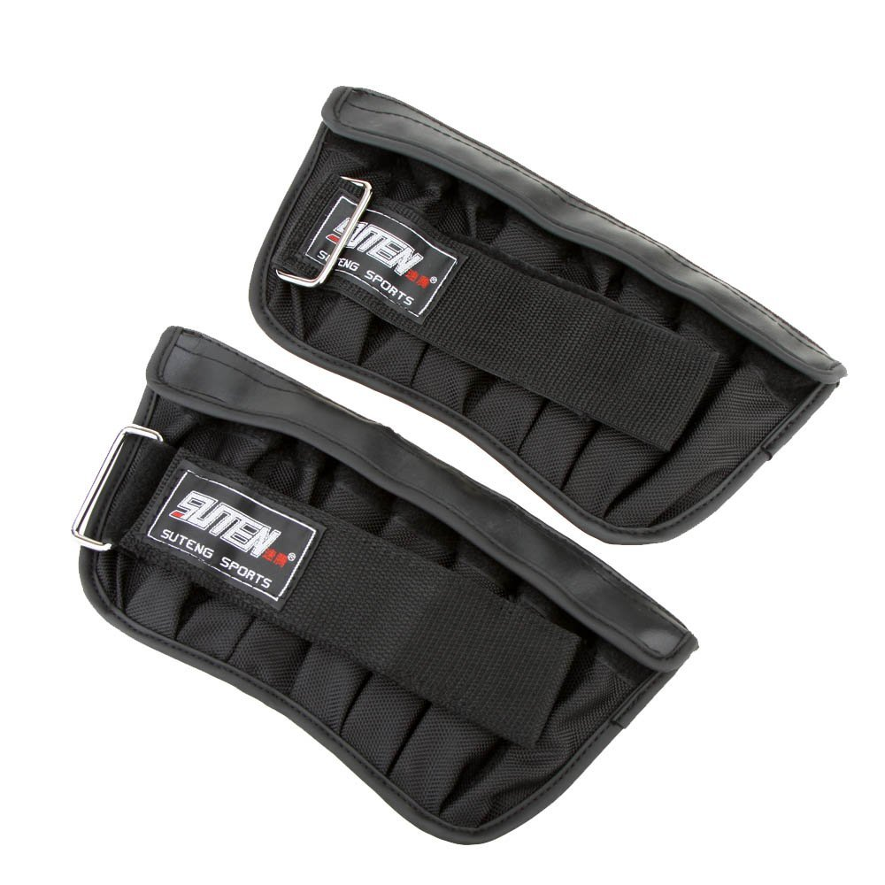 SUTEN 2pcs Max Loading 3kg Adjustable Weighted Wrist Band Boxing Training Exercise With Loading Weight Wrist Wrap