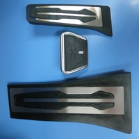 Non Drilling Gas Fuel Brake Footrest Pedal Plate Pad AT For BMW New 1 2 3