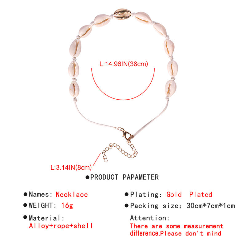 Lalynnlys New Hot Shell Conch Choker Necklace Women Girls Vintage Statement Multi-layer Necklaces Summer Beach Jewelry N68671 14