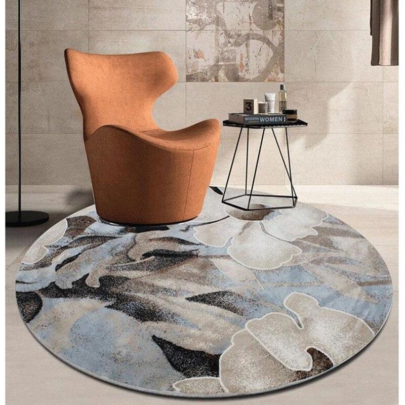 Круговая просто чернила абстрактный Ковры Гостиная исследование Спальня Ковры на полу стол, стулья под Декоративный Круглый Ковры