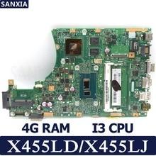 KEFU X455LD X455LJ Laptop motherboard for ASUS X455LD/J X455L X455 Y483L W419L W409L F455 Test original mainboard 4G RAM I3 CPU