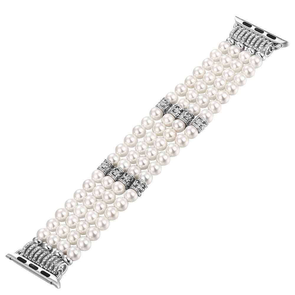 Luxury Jewelry Bracelet Strap For Apple Watch band 38mm 42mm Women Replacement Watch Band For iWatch 40mm 44mm Series 4 3 2 1