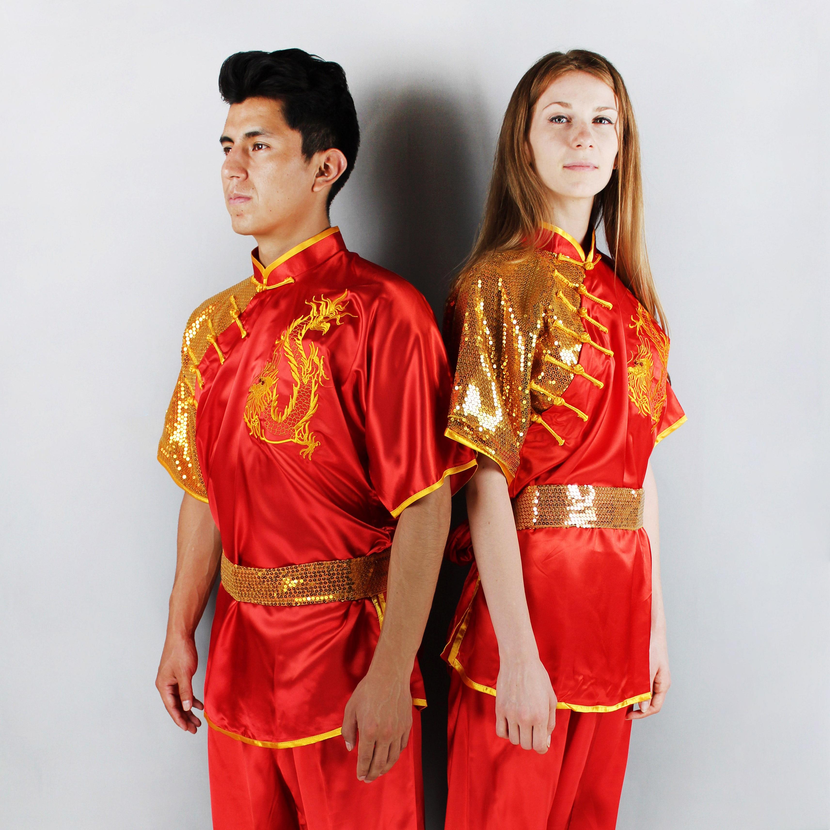 Wushu Stretch Silk Dragon Uniform 1