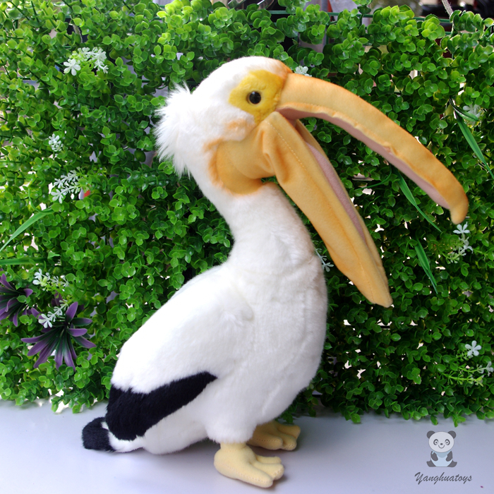 Simulation Wildlife  Stuffed Animal  Toys  Pelican Doll Toucan  Plush Toy  Rare Birds Dolls  Gifts stuffed wild doll toys african wolf spotted hyenas simulation animals plush toy children dolls rare