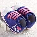 Primavera e no Outono 0-1-ano-velho macho e sapatos da criança do bebê do sexo feminino amo meu amor pai mãe moda sapatos casuais