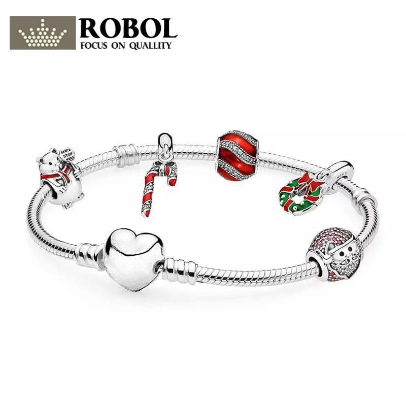 ROBOL The 2017 BLACK FRIDAY DEALS 925 Sterling Silver Sparkling Strand Bracelet Women Link Tennis Bracelet Silver Jewelry недорго, оригинальная цена