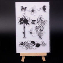 купить Rubber Silicone Clear Stamps for Scrapbooking Tampons Transparents Seal Background Stamp Card Making Diy flower 6 по цене 254.01 рублей