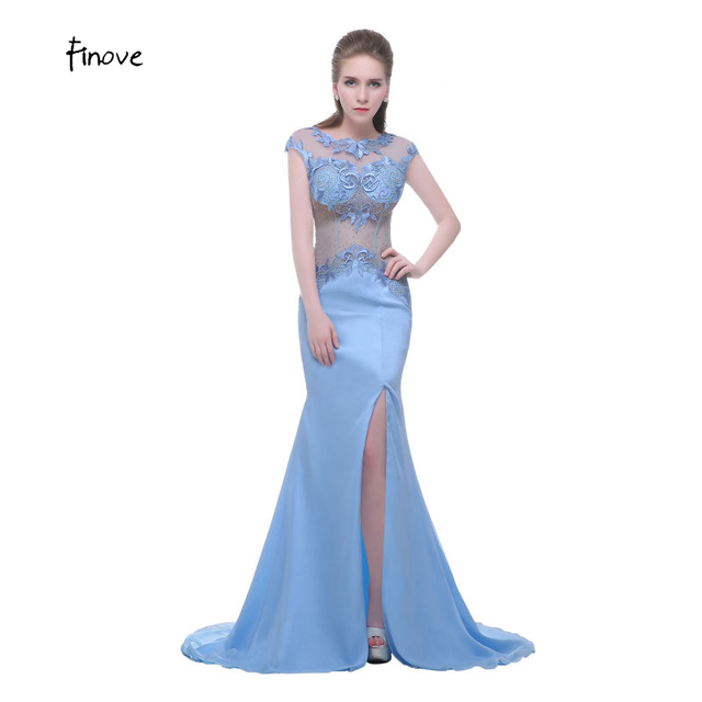 10e90773a8f6 Capped Sleeve Elegant Evening Dress Jewel Neck Best Evening Gowns Chiffon  Fabric Trendy Evening Dresses Floor Length vestido