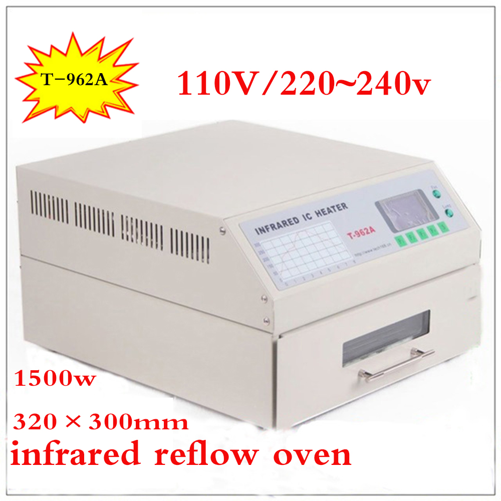 T-962A Infrared IC Heater T962A Desktop Reflow Oven BGA SMD SMT Rework Sation T 962A Reflow Wave Oven коврик для мышки printio cs go