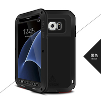 LOVEMEI Dirt resistant Anti knock Metal Aluminum Cases with Gorilla Glass for Sumsang Galaxy S7 G9300 Heavy Duty Protection Case