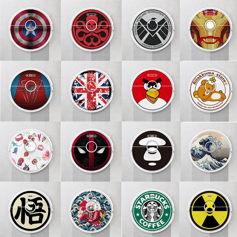 Provide Customized Custom Vinyl Cute Sticker For Xiaomi Roborock S6 T6 Robot Robotic Vacuum Cleaner Skin Spare Parts Accessories