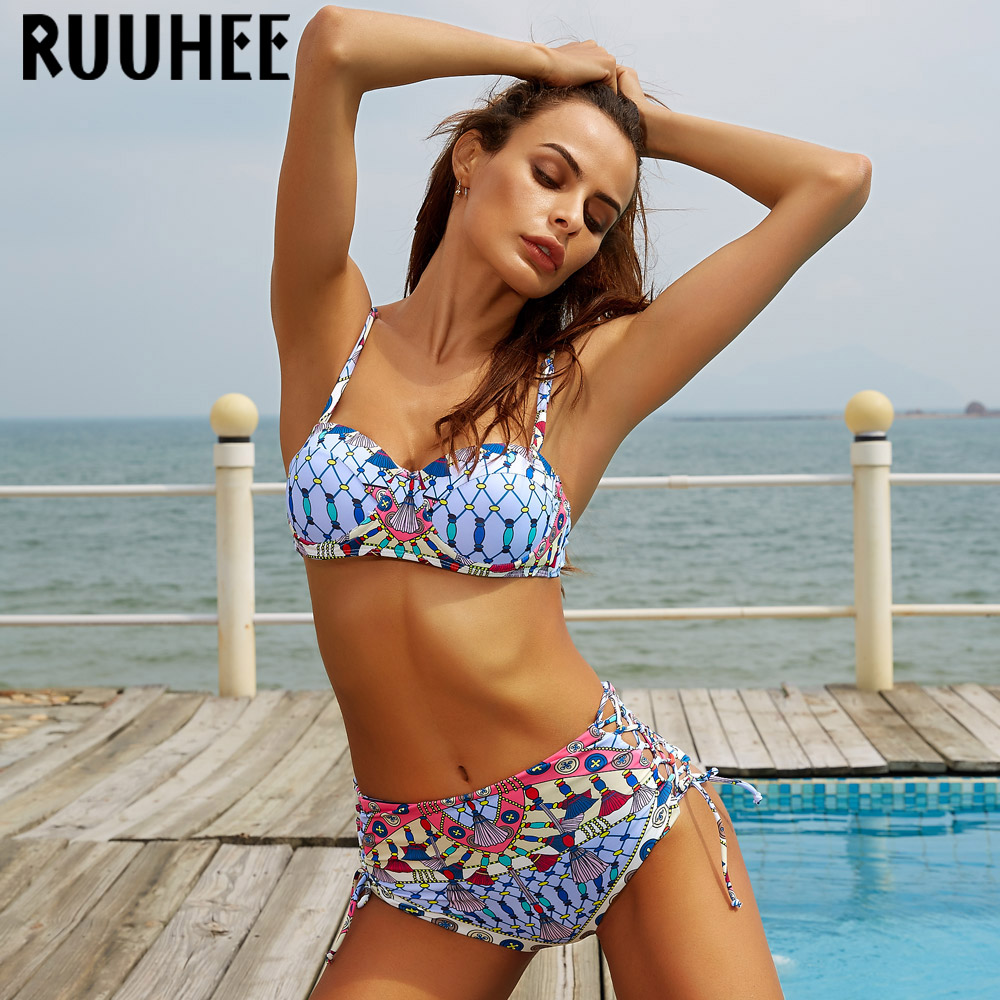 Push up Bikini Swimwear High Waist Swimsuit Women Bikini Set Biquini 2017 Beachwear Bathing Suit Maillot De Bain Femme Swim Suit