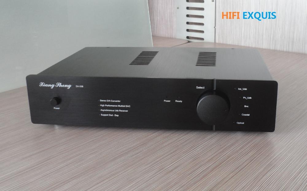 XiangSheng insignia DAC-05B 2x AK4495SEQ o AK4497EQ XMOS XLR DSD tubo DAC de alta fidelidad EXQUIS Xu208 decodificador tarjeta de sonido DAC05B dac-05