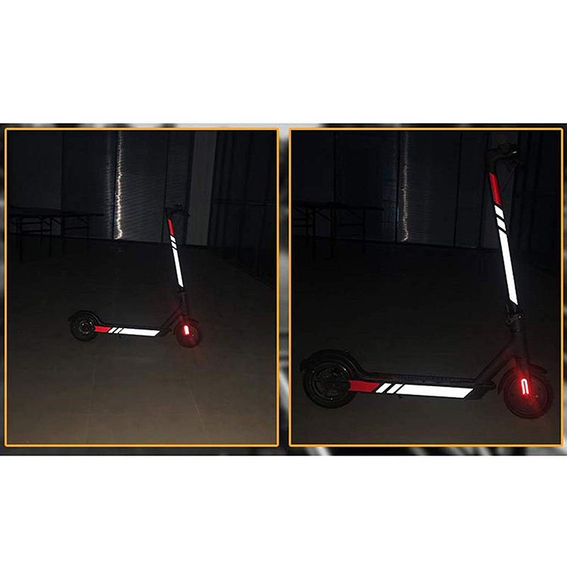 Reflective Stickers For Xiaomi Mijia M365 Electric Scooter Reflect Light Tags Pastor Decals Night Warning Strip Reflector
