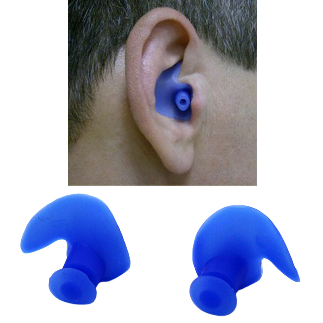1 Pair Waterproof Swimming Earplugs Professional Silicone Swim Earplugs Adult Swimmers Children Diving Soft Anti-Noise Ear Plug