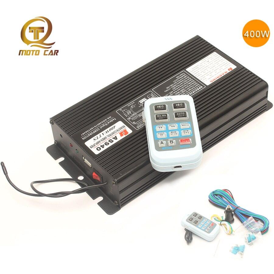 400 W 12 V Super fort sirène de Police klaxon de voiture haut-parleur multi-ton 18 son Bang voix sans fil à distance moteur alarme mégaphone