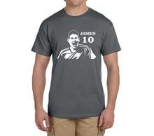 2017 summer James Rodriguez T-Shirt Men Short Sleeve O Neck fashion 100% cotton T shirts madrid fans gift 0219-8