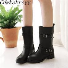 Женские ботинки с круглым носком размеры 34 43