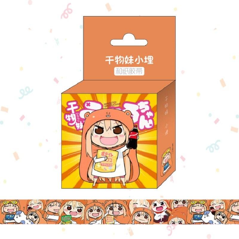 1.5cm*5m Anime Doma Umaru Washi Tape Adhesive Tape DIY Scrapbooking Sticker Label Masking Tape