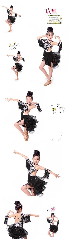 2e6b8aa94 2016 new style girls latin dance costumes senior spandex vs tassel latn  dance dress for girls latin dance dresses S 3XL-in Latin from Novelty &  Special Use ...