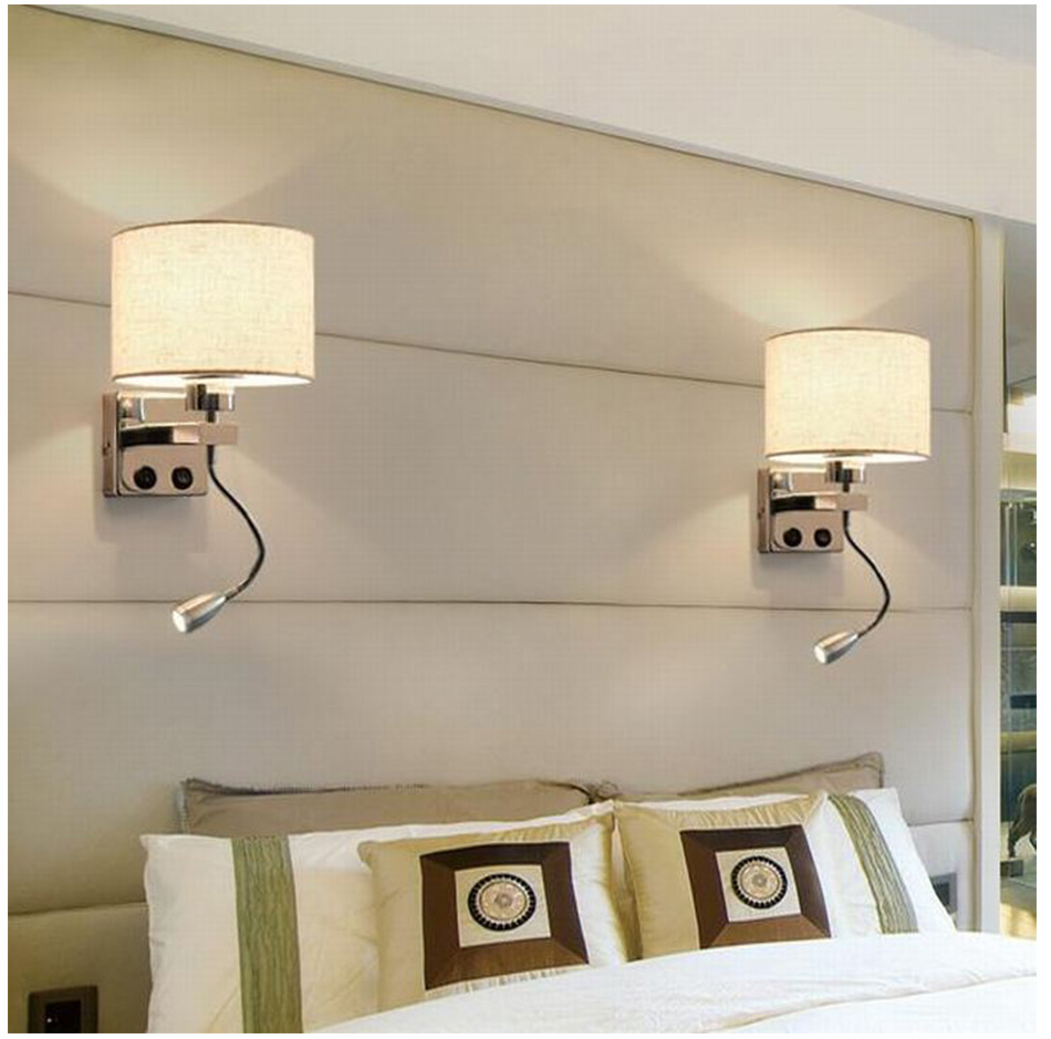 Wall Lamp Sconce Switch Stairs Light Luminaires Fixture E27 Bulb Bedroom Decor Bathroom Modern Bedside Lighting Wall Mounted (21)