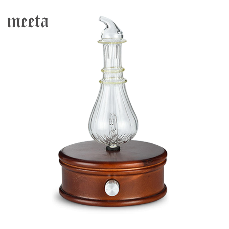 Waterless Essential Oil Diffuser Wood And Glass Aromatherapy Diffuseur Huile Essentiel Difusor De Aroma Nebulizer for Home