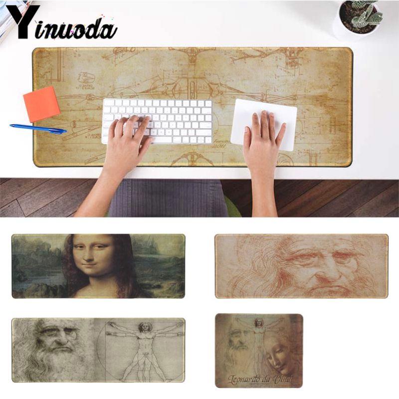 Yinuoda Mona_Lisa_by_Leonardo_da_Vinci геймер Скорость мыши розничной pc коврик для мыши Размеры для 180*220 250*290 300*900 и 400*900*2 мм