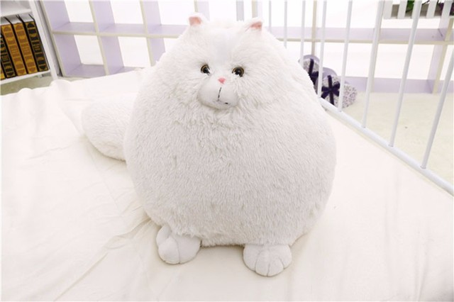 1pcs  Fat Pet Cats Persian Cat Toys Pembroke Pillow Plush Toys Soft Stuffed Animal Plush Dolls Simulation Peluches Gifts Kids