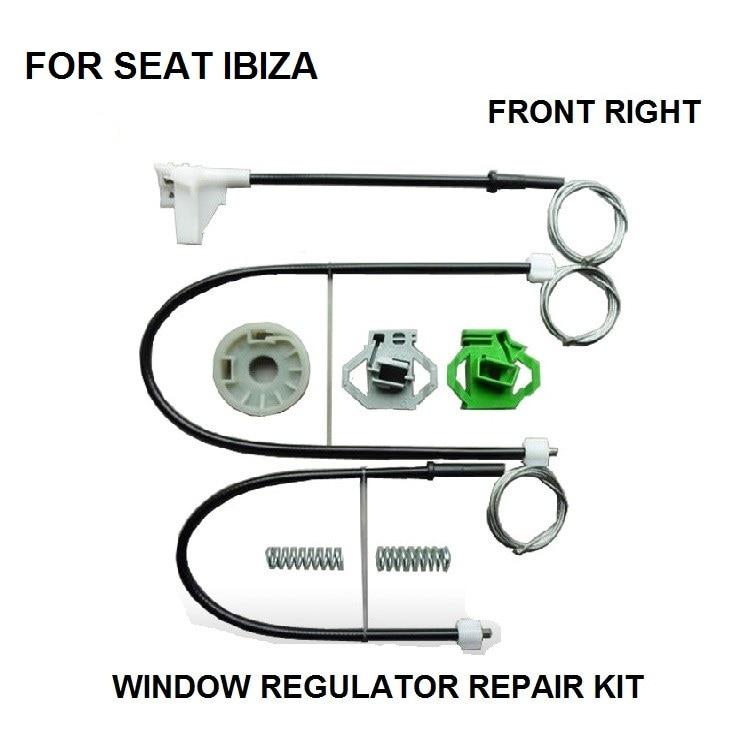 SEAT IBIZA ELECTRIC WINDOW REGULATOR REPAIR CLIPS FRONT RIGHT