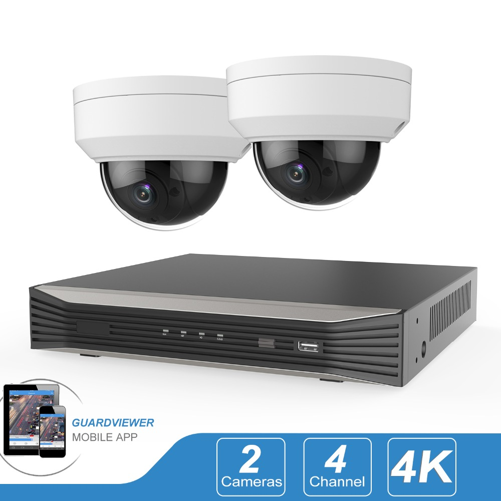 Plug & Play 4CH POE NVR KIT H.265 4 Channel Security Camera System 2PCS 5Megapixel POE IP Cameras Outdoor Video Surveillance Set image
