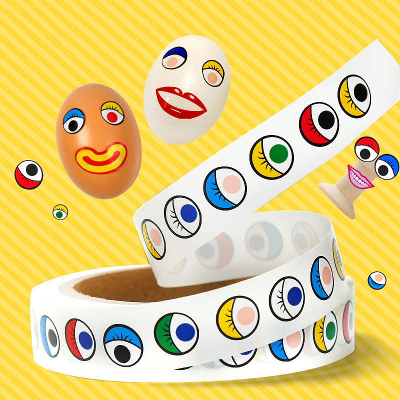 2 Rolls//1000 Pairs Cute Wiggle Eye Sticker DIY Craft Fun Cartoon Lables for Kids