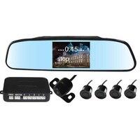 Car 4 Sensors Led Parking Sensor Video Parking Sensor Assistant Monitor Radar System Rear View Camera