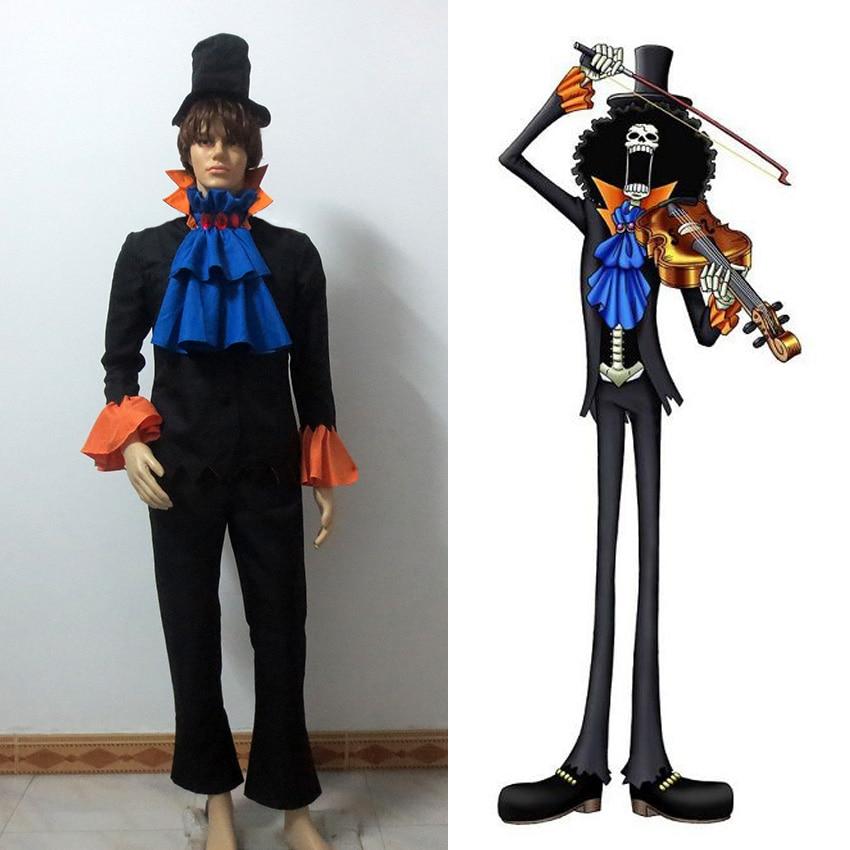 One Piece Dead Bones Brook font b Suit b font Cosplay Costume
