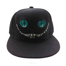 2016 Alicia en el país de las Maravillas Cheshire gato historieta del  sombrero gorra de béisbol del hip-hop hombres y mujeres so. 5bbe5689a9a