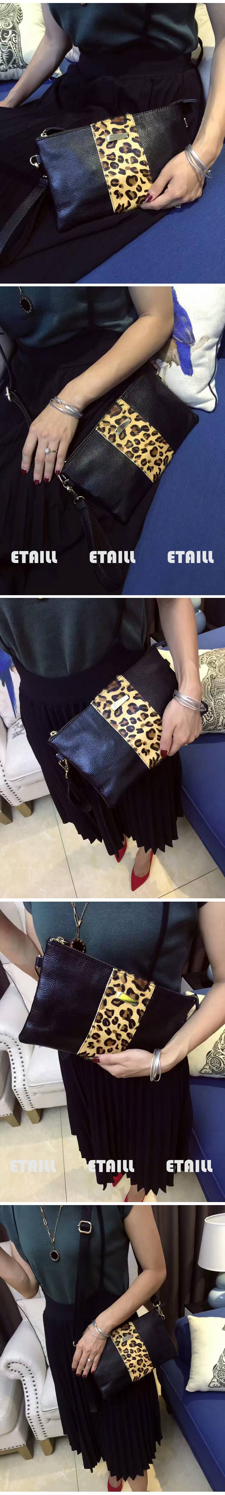 PU leather hair horse black women shoulder bags