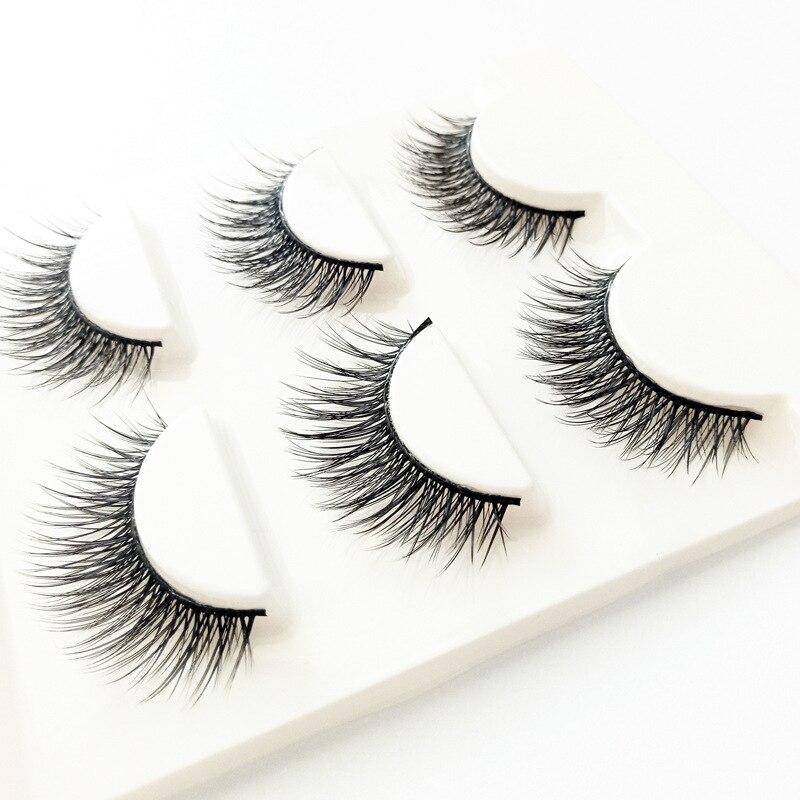 Eyelashes 3d Mink Lashes Natural Long Make Up False Eyelashes 12mm Eyelash Glue Makeup Eye Lashes Tweezers 3d Lashes Maquiagem
