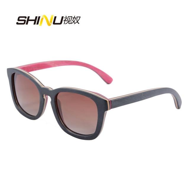 fashion wood sunglasses handcraft skateboard wooden frame glasses women men polarized gogglen summer eyewear oculos de - Wood Framed Sunglasses