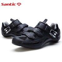 Santic Дорога Вело обувь черный Велосипедный Спорт Обувь 3 цвета нейлон подошва Road Обувь Велоспорт Zapatillas Ciclismo s12018h