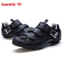 Santic Road Cycling Shoes Black Bicycle Shoes  3 color Nylon sole Road Shoes Cycling zapatillas ciclismo  S12018H
