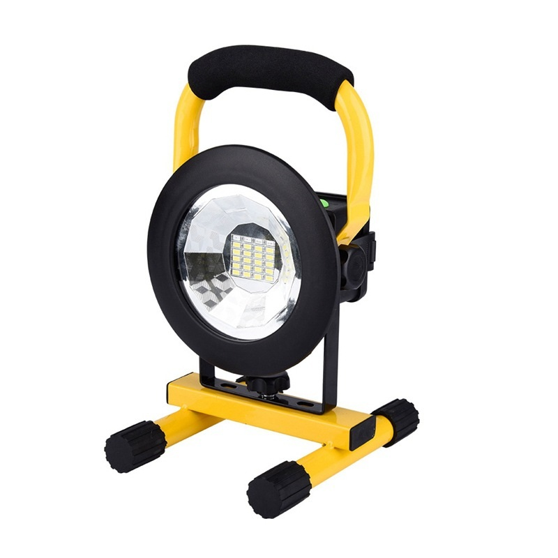 ФОТО Waterproof IP65 30W Floodlights Rechargeable 24LED Flood Light SpotLights Light Cordless Portable Lamp led Spotlight IY105107