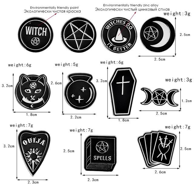Witches do it better witch ouija spells black moon pins Badges Brooches Lapel pin Enamel pin Backpack Bag Accessories Witch pin 5