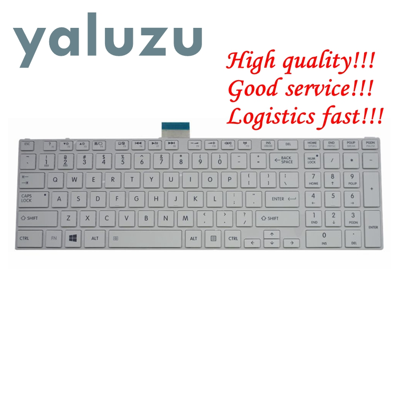 YALUZU NEW US keyboard For toshiba SATELLITE L850D P850 L855 L855D L870 L870D C850 C855 C855D US White laptop keyboard NSK TVBSU-in Replacement Keyboards from Computer & Office on