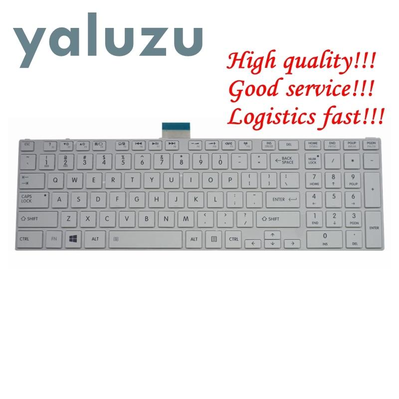 YALUZU NEW US Keyboard For Toshiba SATELLITE L850D P850 L855 L855D L870 L870D C850 C855 C855D US White Laptop Keyboard NSK-TVBSU
